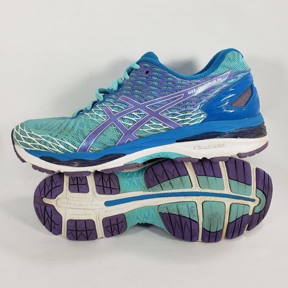 78d54c3a Asics Gel Nimbus 18 Running Athletic Shoes Teal